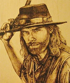 Laura Lobner - Pyrography wild west image