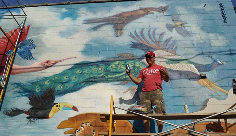 Stephen Wysocki the power of words Mural