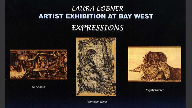 Artist Laura Lobner is being featured at Bay West