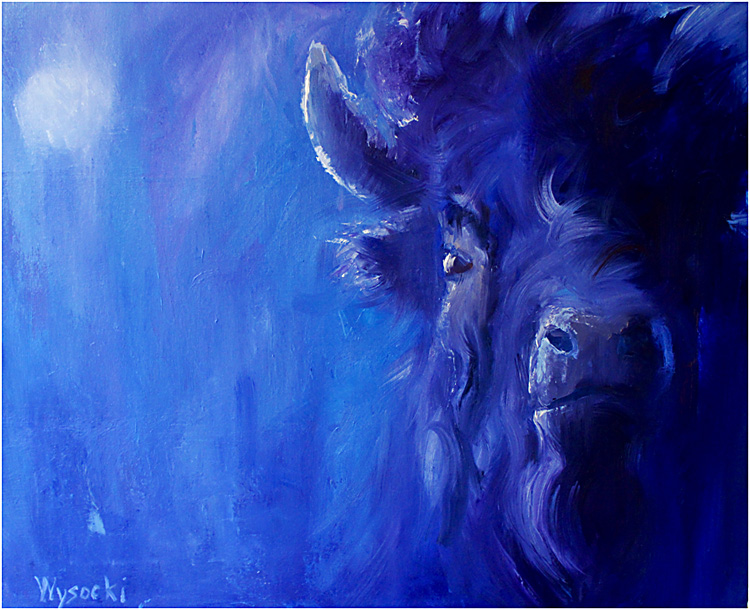 Stephen Wysocki windy moonlight buffalo 30x24
