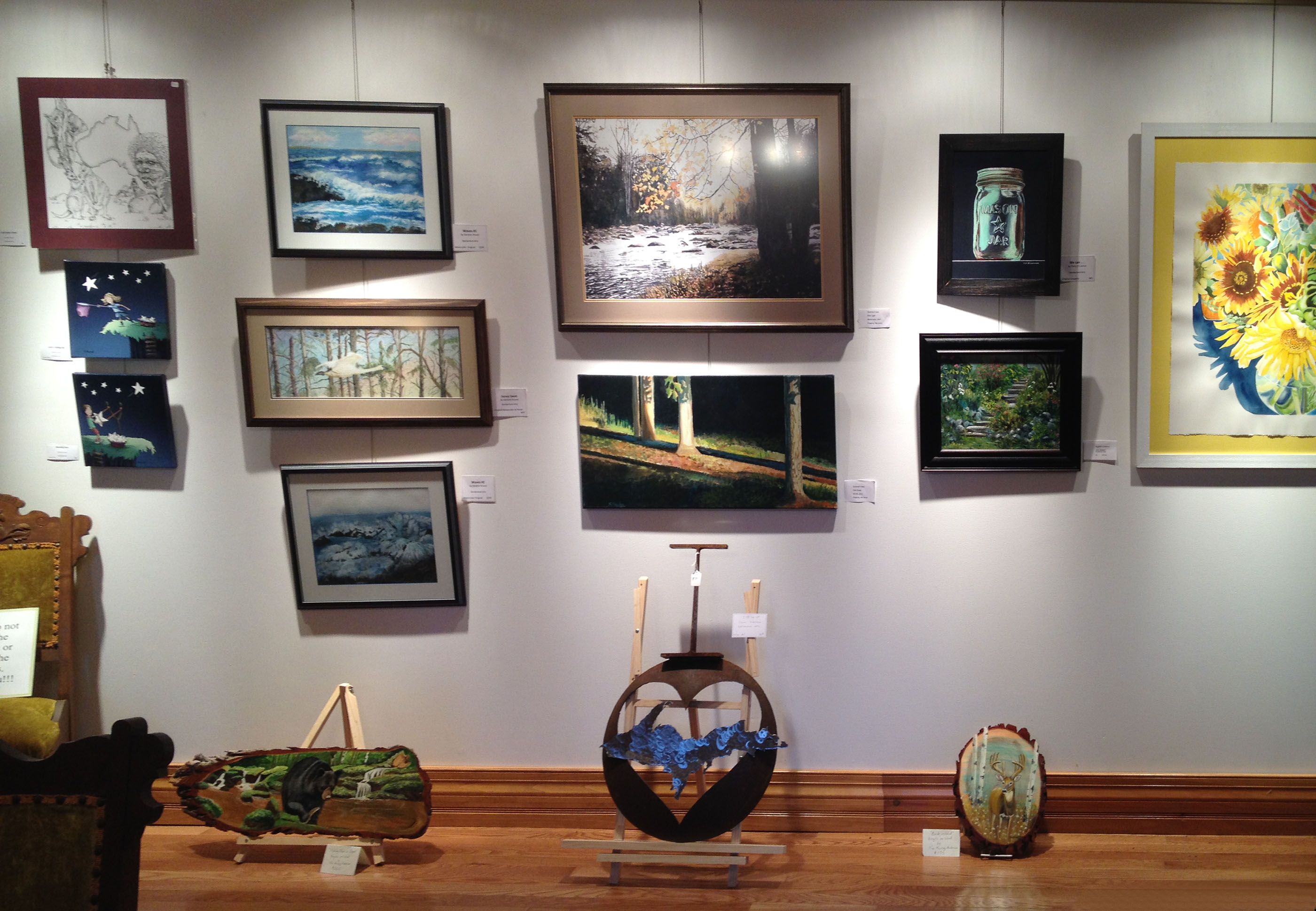 Borderland Art display