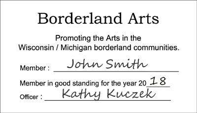 Borderland Membership Card 2017