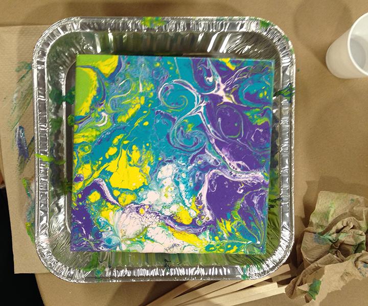 Acrylic Pour 17