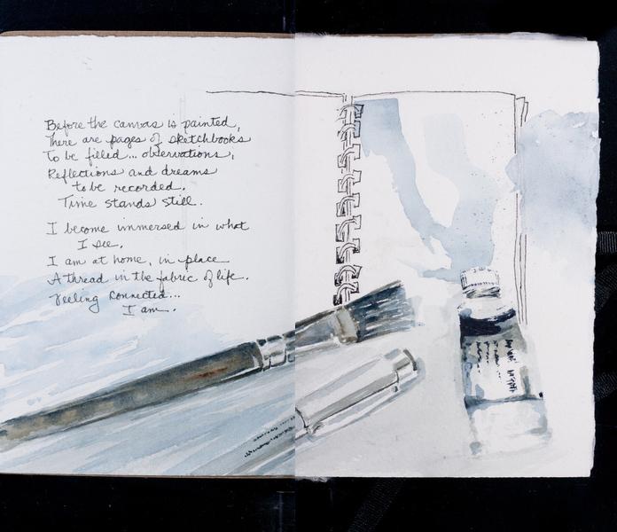Melisse Carr sketchbook page